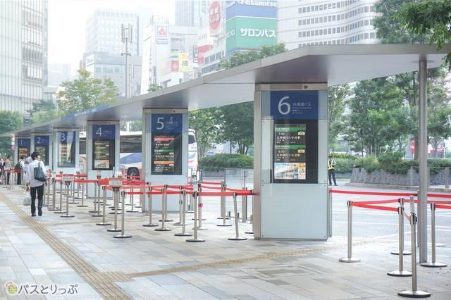 JR東京駅八重洲南口の高速バスのりば