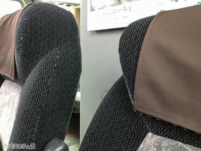 リクライニングはシートの厚み分くらい最大で倒せます