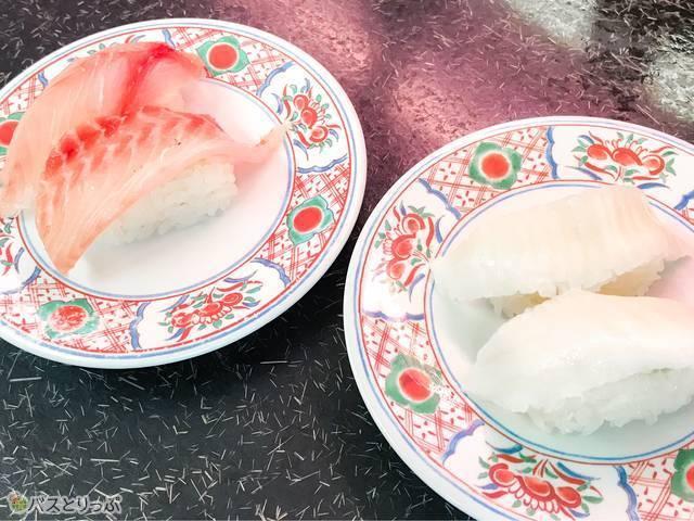 「那珂湊おさかな市場」では、新鮮で大ぶりなネタの回転寿司が安価で楽しめる