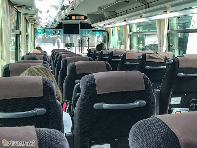 JRバス関東「みと号」車内