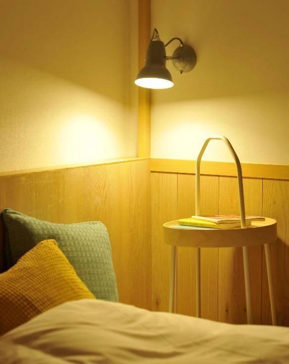 読書灯があるので寝る前のひと時をひとりで満喫することも