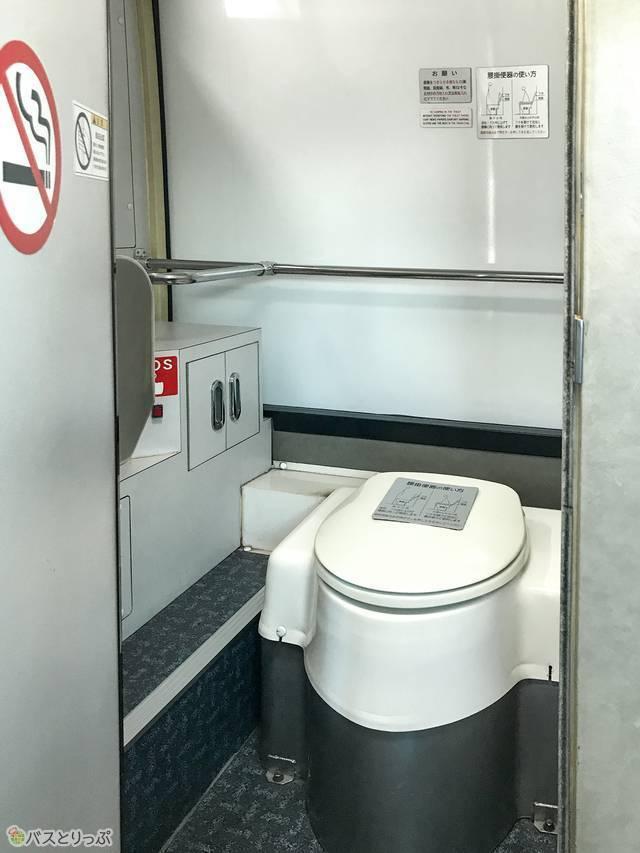 東京空港交通・渋谷~羽田空港リムジンバスのトイレ内部