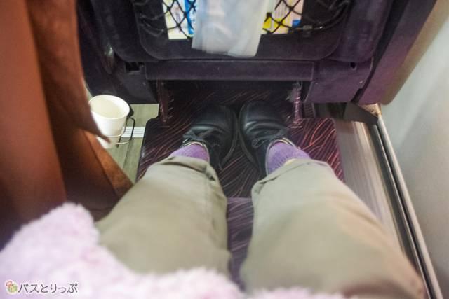 靴を脱がずに使えるフットレストもポイントUP!