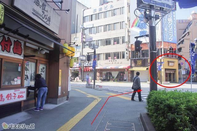 徳島の銘菓「小男鹿」を販売する和菓子店が目印。