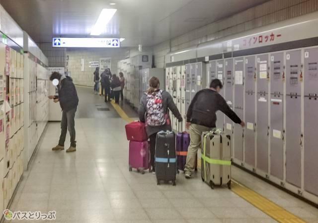 京成上野駅のコインロッカー.JPG