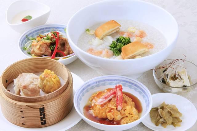 自家製点心も楽しめる中華粥定食