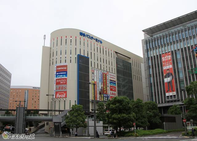 JR博多駅に隣接する「博多バスターミナル」