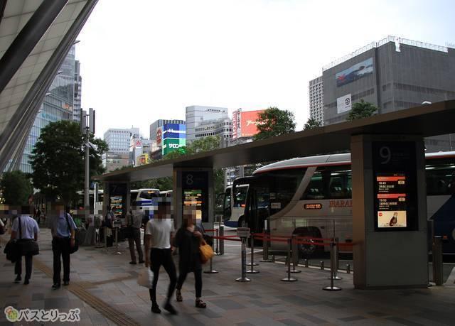 数多くの高速バスが発着する東京駅八重洲南口JR高速バスターミナル