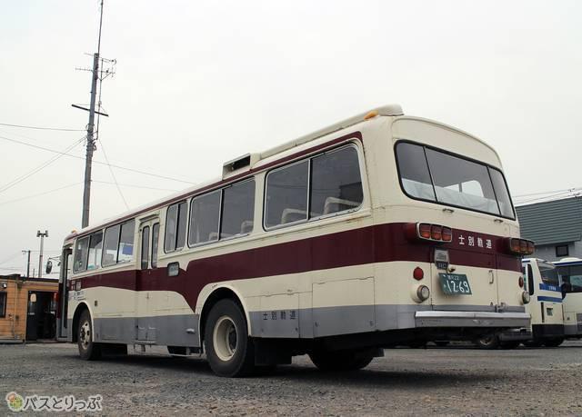 士別軌道「モノコックバス」の外観 後ろ