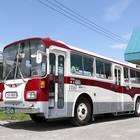 復刻塗装変更直後に撮影した士別軌道の「モノコックバス」