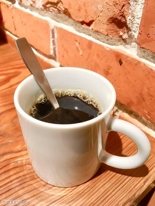 ボリューミーな朝食を食べ終わったあとに、ホットコーヒーで一息