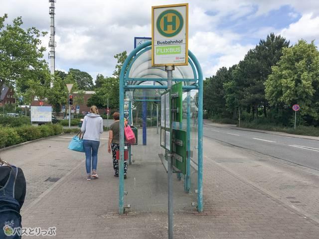 ティンメンドルファー・シュトランドのバス停