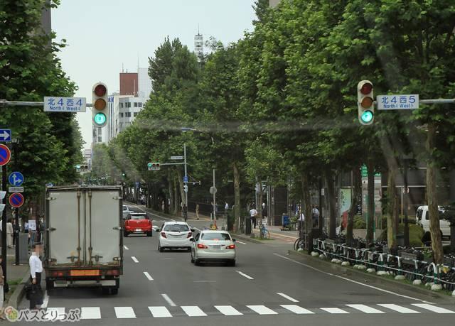 札幌中心部を走行中