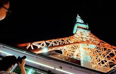 2階客席から見上げた東京タワー