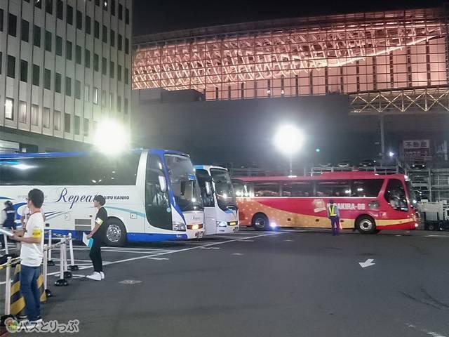 東京駅八重洲南口鍛冶橋駐車場から発着する夜行バス