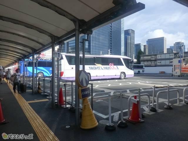 東京駅八重洲南口鍛冶橋駐車場に到着