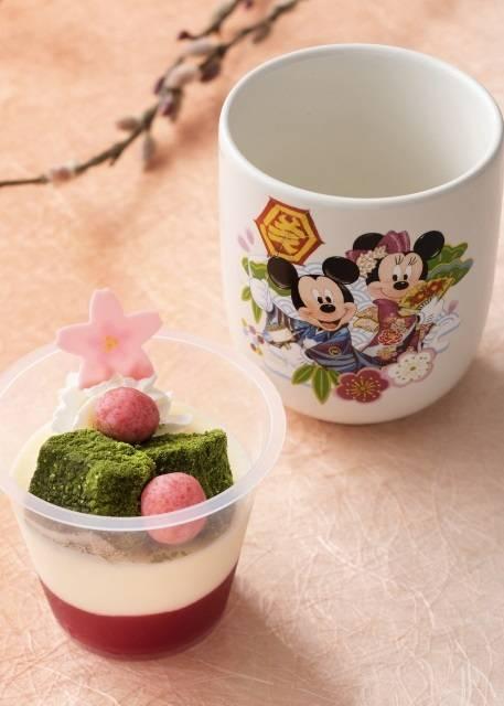 練乳ムース&ストロベリーゼリー、 スーベニアカップ付き 750円 (c)Disney