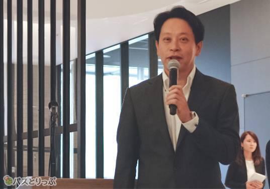 WILLER EXPRESS株式会社 代表取締役の平山氏