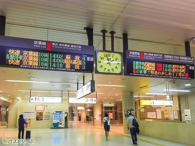 京葉線電光掲示板