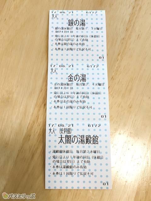 三館共通チケットです