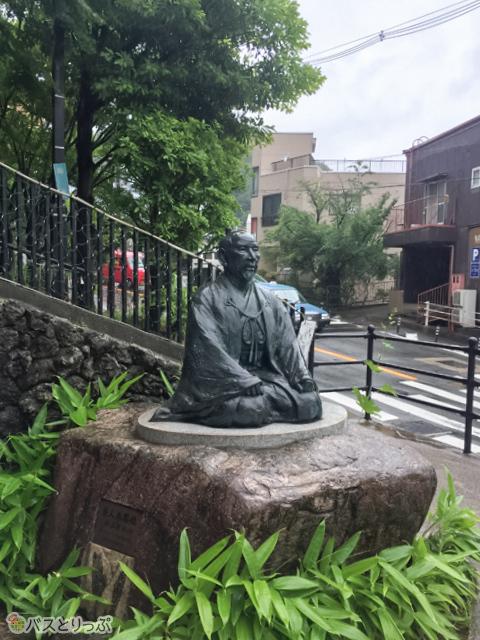湯けむり広場の太閤像