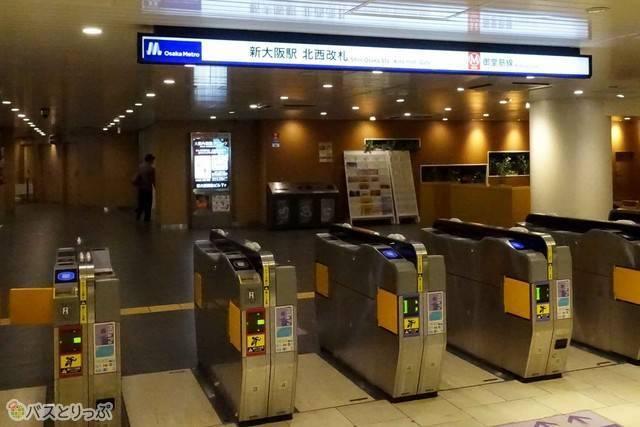 大阪メトロからのアクセスは北西改札口が便利