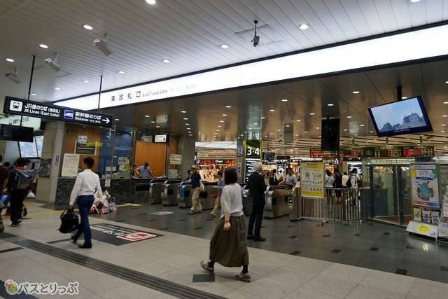 JR新大阪駅在来線の出口はここ東改札口のみ