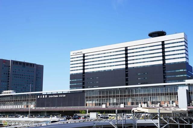 新大阪駅バスターミナルに到着しました