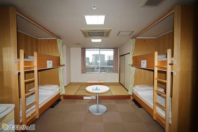 想像以上の広いスペース(4人部屋)