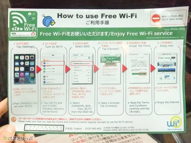 フリーWi-Fiの説明書