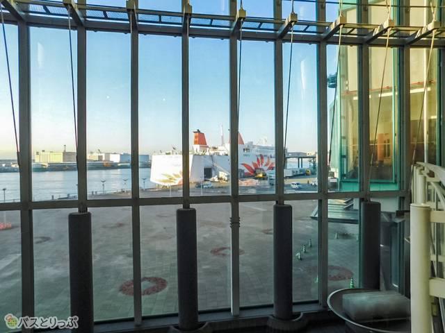さんふらわあターミナルから見るフェリーさんふらわあ「こばると」号。お世話になりました!