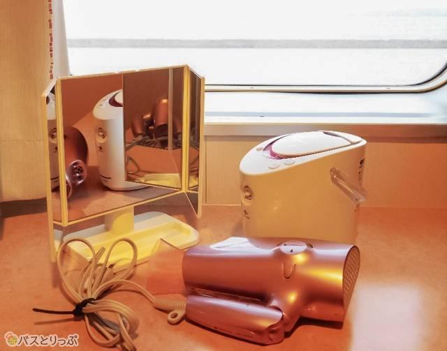 三面鏡・イオンドライヤー・美肌スチーマー、女子に嬉しい美容アイテムがスタンバイ