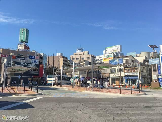 西船橋駅北口高速バスターミナル付近