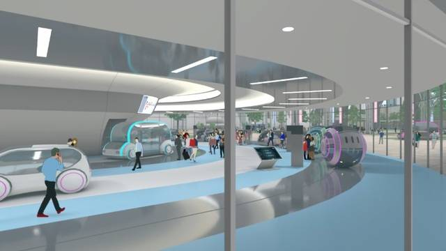 次世代モビリティの乗降地となるターミナル(イメージ)