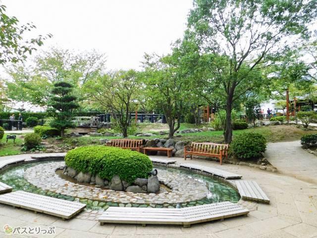 園内は庭園風。のんびり散策気分で周れます