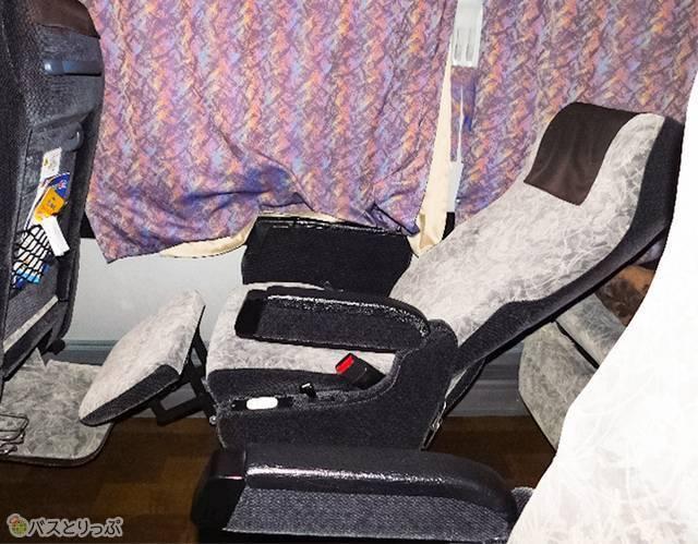 座席、フルリラックスモード!
