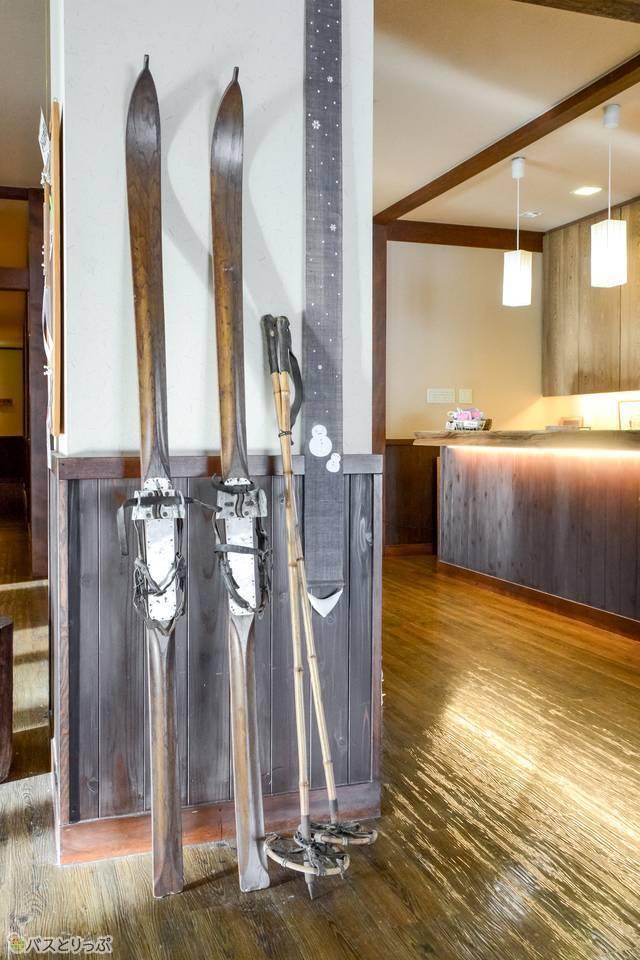 木のスキー板