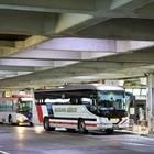 改札中の東京池袋行き高速バス