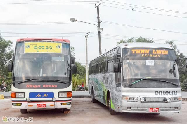 ミャンマーで遠鉄バスと滋賀観光バスが夢の共演!?