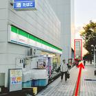宮城野通を真っ直ぐ。赤い枠が東北福祉大学仙台駅東口キャンパス