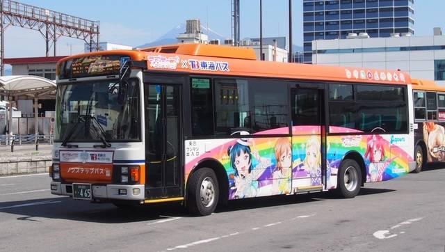 運行中のラッピングバス
