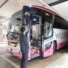 バスタ新宿に到着! 乗務員さんがお見送りしてくれます