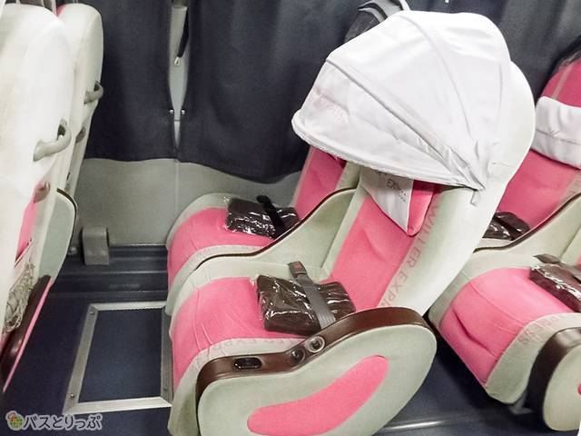 カノピーは閉めるとこんな風! 寝顔隠しに、眩しさ防止に