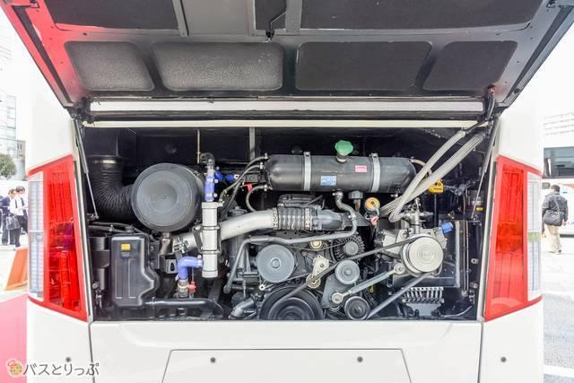 スウェーデン・スカニア社製のエンジン