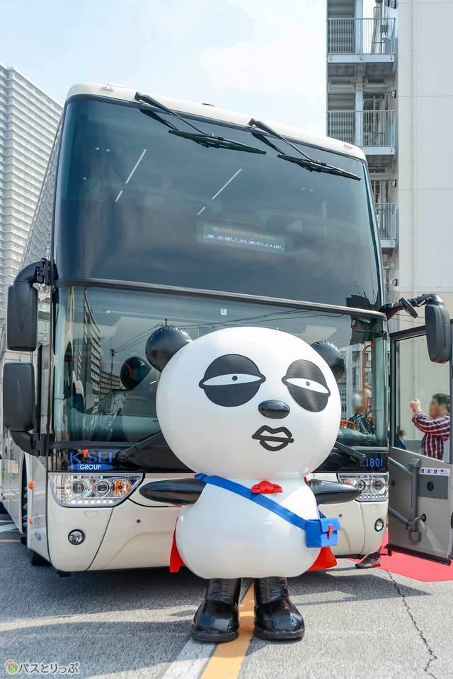 京成パンダもイベントの盛り上げに登場