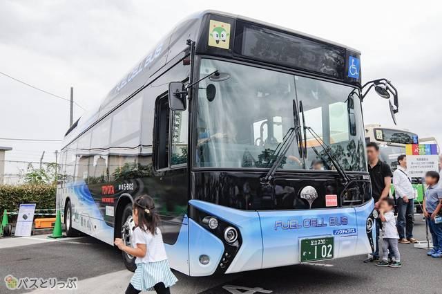 今回の目玉だった東京都交通局の水素バス