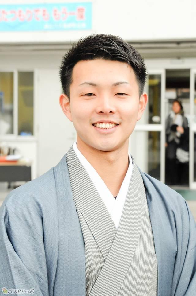 新成人の中で唯一の男子、整備士の矢澤優志さん