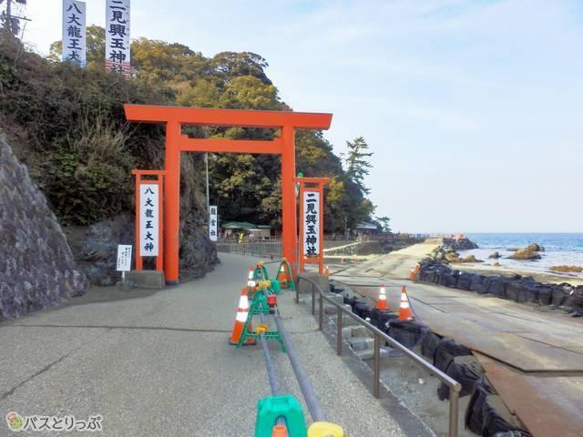 海のそばの赤い鳥居(猿田彦神社、月読宮、二見浦)