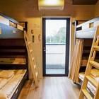 こちらは4人部屋。ホステル内は全て2段ベッドです
