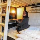 二段ベッドなのに天井が高いのが嬉しい!
